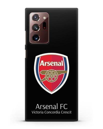 Чехол с логотипом ФК Арсенал Лондон силикон черный для Samsung Galaxy Note 20 Ultra [SM-N985F]