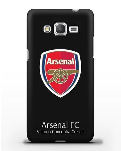 Чехол с логотипом ФК Арсенал Лондон силикон черный для Samsung Galaxy Grand Prime [SM-G530]