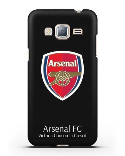 Чехол с логотипом ФК Арсенал Лондон силикон черный для Samsung Galaxy J3 2016 [SM-J320F]