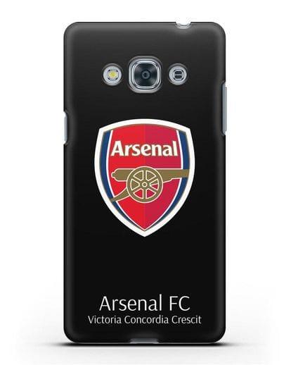 Чехол с логотипом ФК Арсенал Лондон силикон черный для Samsung Galaxy J3 Pro [SM-J3110]
