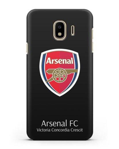 Чехол с логотипом ФК Арсенал Лондон силикон черный для Samsung Galaxy J4 2018 [SM-J400F]