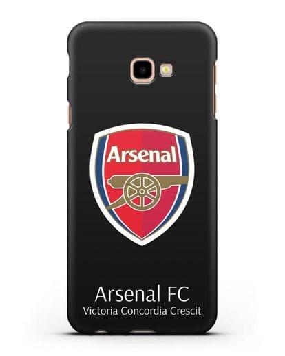 Чехол с логотипом ФК Арсенал Лондон силикон черный для Samsung Galaxy J4 Plus [SM-J415]