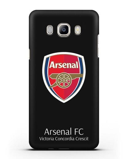 Чехол с логотипом ФК Арсенал Лондон силикон черный для Samsung Galaxy J5 2016 [SM-J510F]