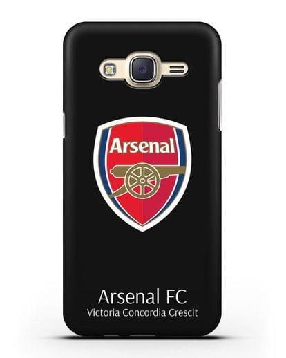 Чехол с логотипом ФК Арсенал Лондон силикон черный для Samsung Galaxy J7 2015 [SM-J700H]