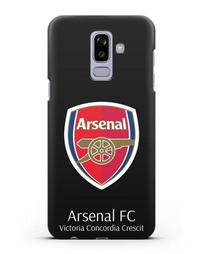 Чехол с логотипом ФК Арсенал Лондон силикон черный для Samsung Galaxy J8 2018 [SM-J810F]