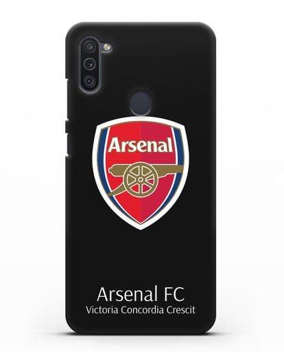 Чехол с логотипом ФК Арсенал Лондон силикон черный для Samsung Galaxy M11 [SM-M115F]