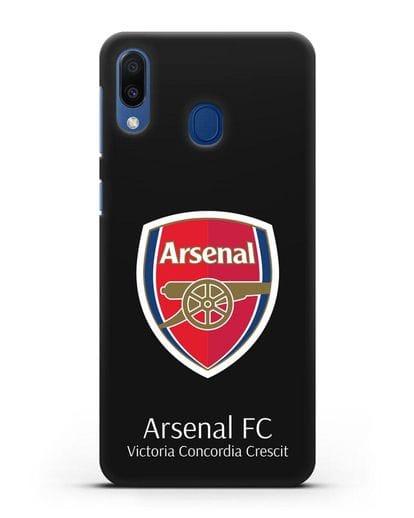 Чехол с логотипом ФК Арсенал Лондон силикон черный для Samsung Galaxy M20 [SM-M205F]