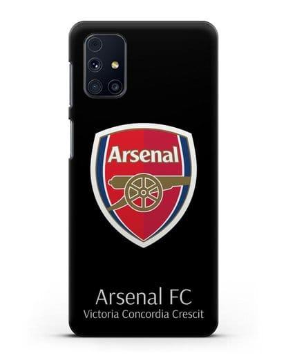 Чехол с логотипом ФК Арсенал Лондон силикон черный для Samsung Galaxy M51 [SM-M515F]