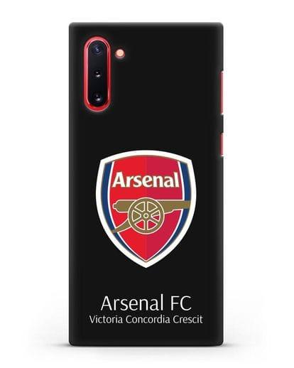 Чехол с логотипом ФК Арсенал Лондон силикон черный для Samsung Galaxy Note 10 [N970F]