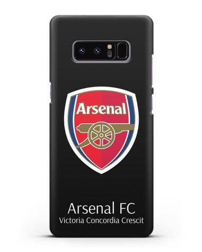 Чехол с логотипом ФК Арсенал Лондон силикон черный для Samsung Galaxy Note 8 [N950F]