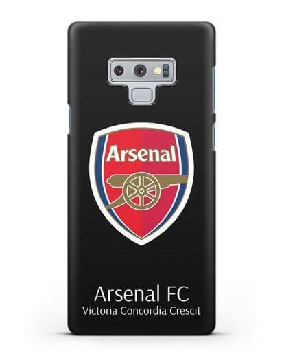 Чехол с логотипом ФК Арсенал Лондон силикон черный для Samsung Galaxy Note 9 [N960F]