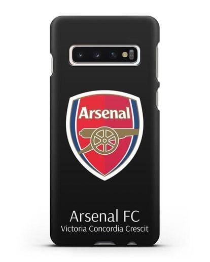 Чехол с логотипом ФК Арсенал Лондон силикон черный для Samsung Galaxy S10 Plus [SM-G975F]