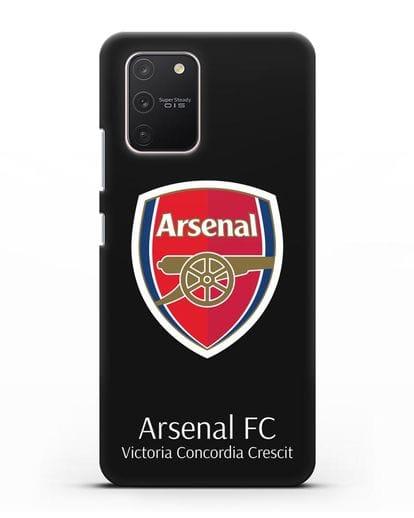 Чехол с логотипом ФК Арсенал Лондон силикон черный для Samsung Galaxy S10 lite [SM-G770F]