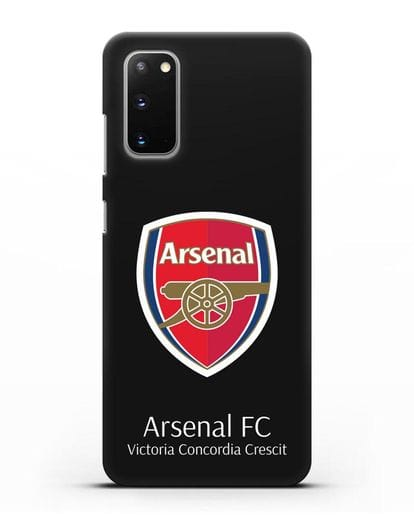 Чехол с логотипом ФК Арсенал Лондон силикон черный для Samsung Galaxy S20 [SM-G980F]