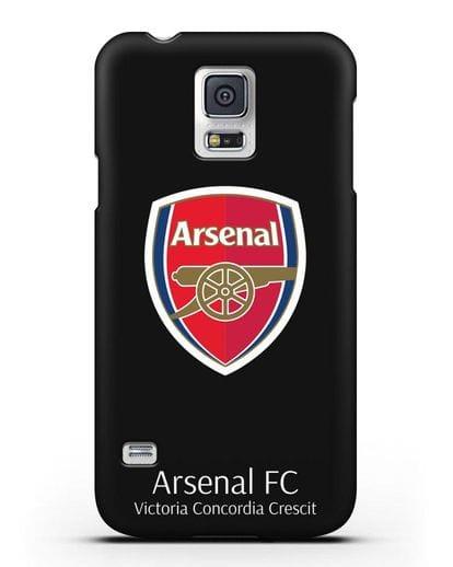 Чехол с логотипом ФК Арсенал Лондон силикон черный для Samsung Galaxy S5 [SM-G900F]