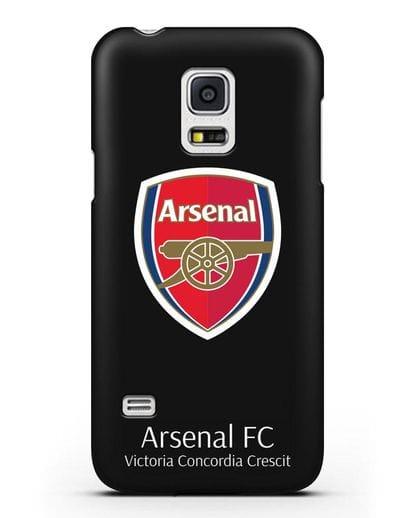 Чехол с логотипом ФК Арсенал Лондон силикон черный для Samsung Galaxy S5 Mini [SM-G800F]