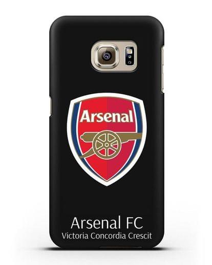 Чехол с логотипом ФК Арсенал Лондон силикон черный для Samsung Galaxy S6 [SM-G920F]