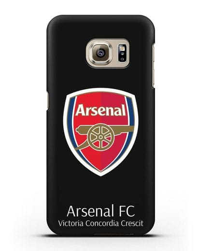 Чехол с логотипом ФК Арсенал Лондон силикон черный для Samsung Galaxy S6 Edge [SM-G925F]