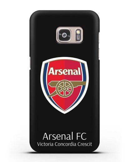 Чехол с логотипом ФК Арсенал Лондон силикон черный для Samsung Galaxy S7 [SM-G930F]