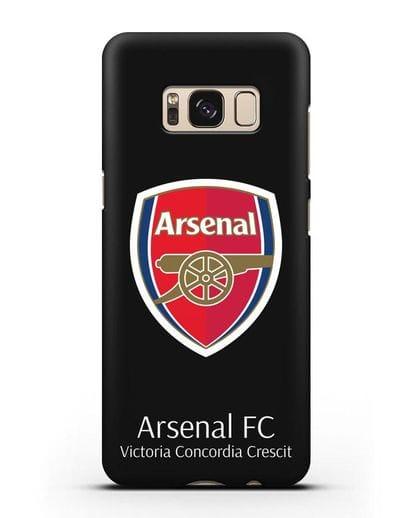 Чехол с логотипом ФК Арсенал Лондон силикон черный для Samsung Galaxy S8 [SM-950F]