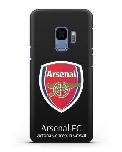 Чехол с логотипом ФК Арсенал Лондон силикон черный для Samsung Galaxy S9 [SM-G960F]