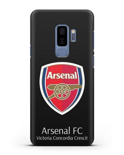 Чехол с логотипом ФК Арсенал Лондон силикон черный для Samsung Galaxy S9 Plus [SM-G965F]