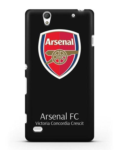 Чехол с логотипом ФК Арсенал Лондон силикон черный для Sony Xperia C4