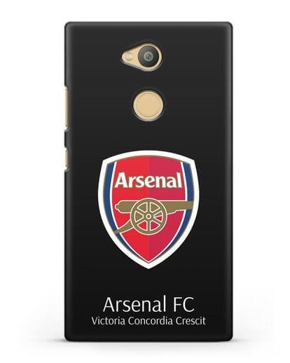 Чехол с логотипом ФК Арсенал Лондон силикон черный для Sony Xperia L2