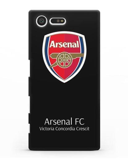 Чехол с логотипом ФК Арсенал Лондон силикон черный для Sony Xperia X Compact