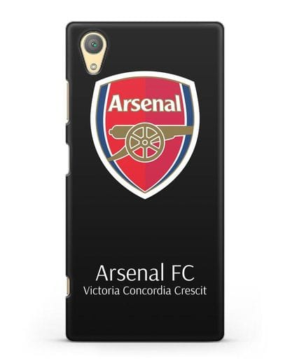 Чехол с логотипом ФК Арсенал Лондон силикон черный для Sony Xperia XA1 Plus