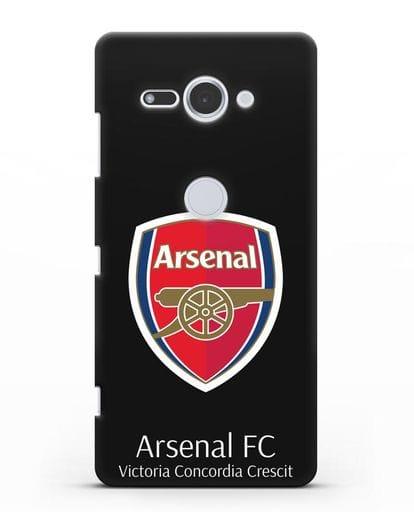 Чехол с логотипом ФК Арсенал Лондон силикон черный для Sony Xperia XZ2 Compact