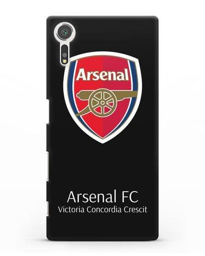 Чехол с логотипом ФК Арсенал Лондон силикон черный для Sony Xperia XZs