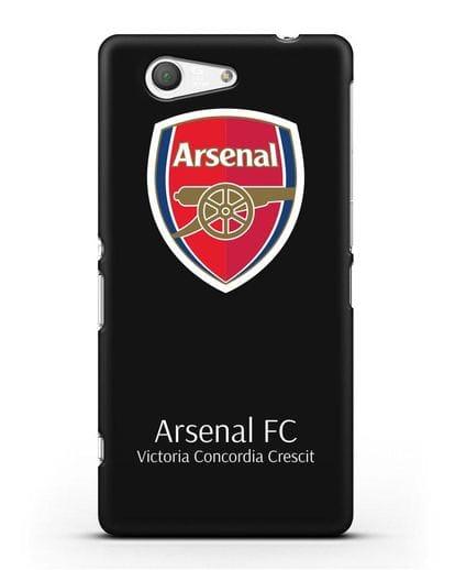 Чехол с логотипом ФК Арсенал Лондон силикон черный для Sony Xperia Z3 Compact