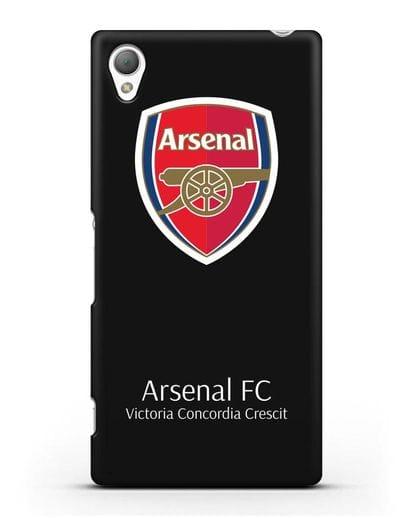 Чехол с логотипом ФК Арсенал Лондон силикон черный для Sony Xperia Z5
