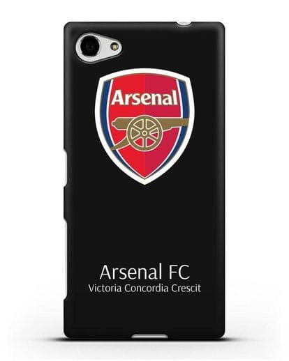 Чехол с логотипом ФК Арсенал Лондон силикон черный для Sony Xperia Z5 Compact