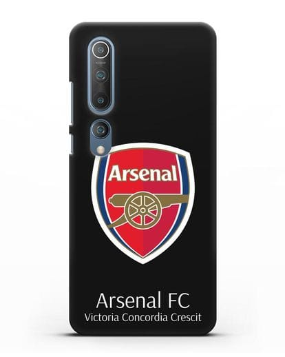 Чехол с логотипом ФК Арсенал Лондон силикон черный для Xiaomi Mi 10 Pro
