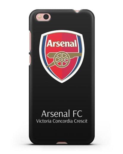 Чехол с логотипом ФК Арсенал Лондон силикон черный для Xiaomi Mi 5С