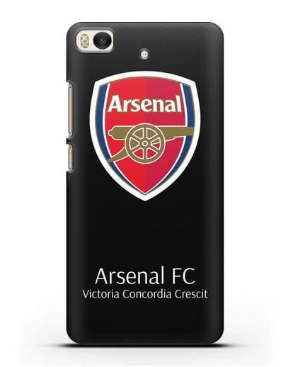 Чехол с логотипом ФК Арсенал Лондон силикон черный для Xiaomi Mi 5S