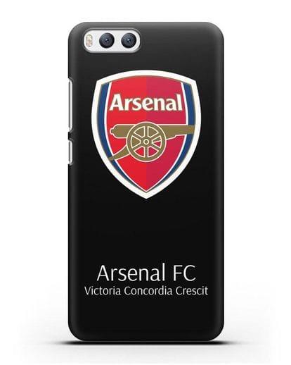 Чехол с логотипом ФК Арсенал Лондон силикон черный для Xiaomi Mi 6