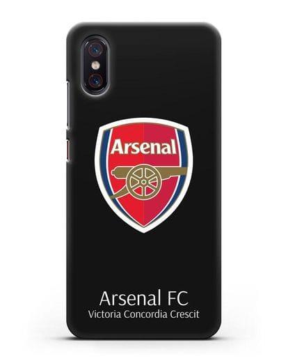 Чехол с логотипом ФК Арсенал Лондон силикон черный для Xiaomi Mi 8 Pro