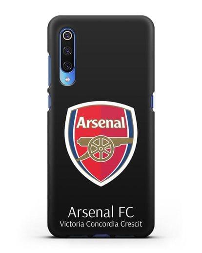 Чехол с логотипом ФК Арсенал Лондон силикон черный для Xiaomi Mi 9