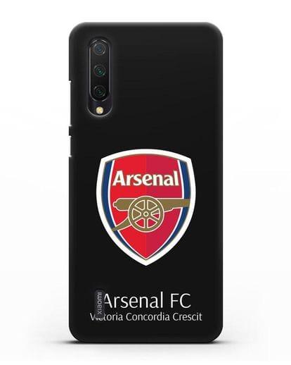 Чехол с логотипом ФК Арсенал Лондон силикон черный для Xiaomi Mi 9 Lite