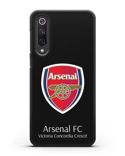 Чехол с логотипом ФК Арсенал Лондон силикон черный для Xiaomi Mi 9 SE