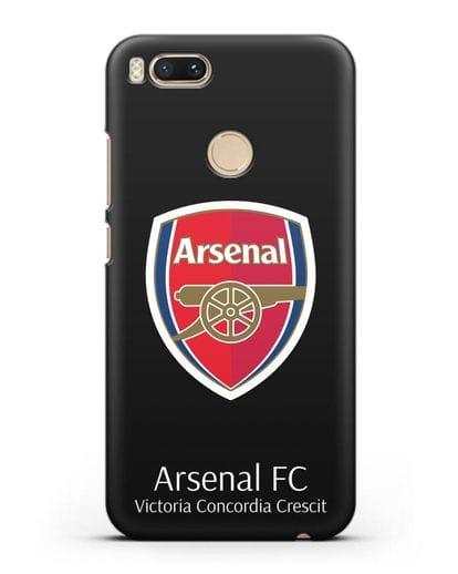 Чехол с логотипом ФК Арсенал Лондон силикон черный для Xiaomi Mi A1