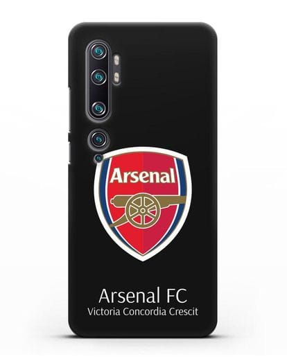 Чехол с логотипом ФК Арсенал Лондон силикон черный для Xiaomi Mi CC9 Pro