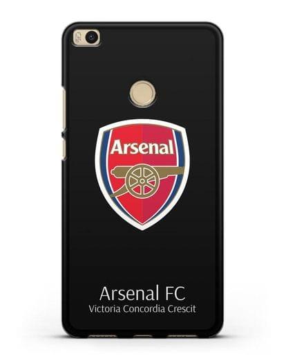Чехол с логотипом ФК Арсенал Лондон силикон черный для Xiaomi Mi Max 2