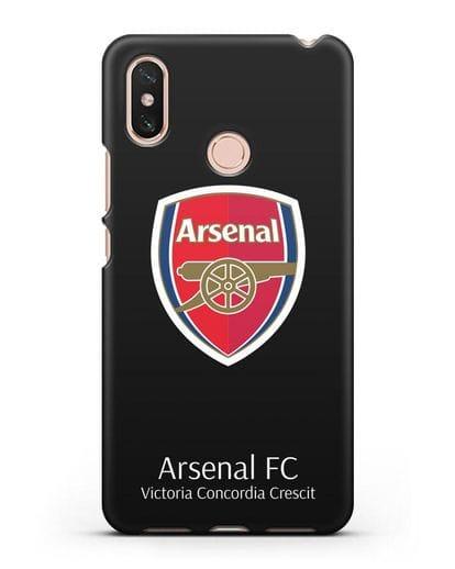 Чехол с логотипом ФК Арсенал Лондон силикон черный для Xiaomi Mi Max 3