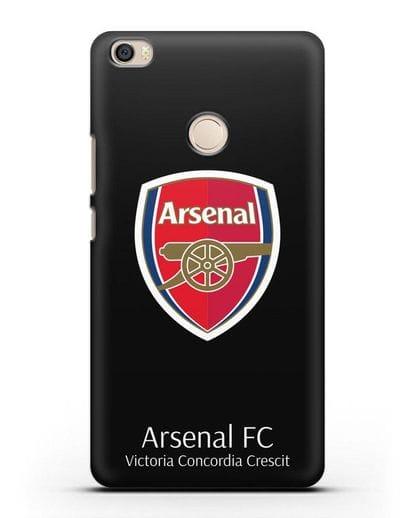 Чехол с логотипом ФК Арсенал Лондон силикон черный для Xiaomi Mi Max