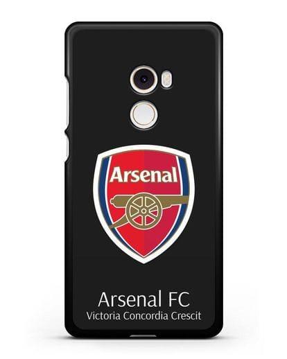 Чехол с логотипом ФК Арсенал Лондон силикон черный для Xiaomi Mi Mix 2