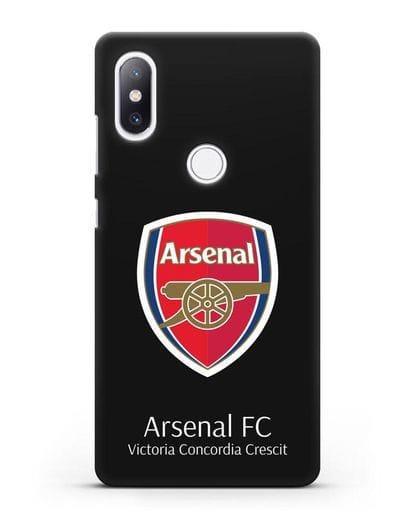 Чехол с логотипом ФК Арсенал Лондон силикон черный для Xiaomi Mi Mix 2S